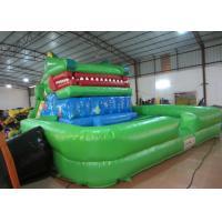 Crocodile cartoon themed inflatable water slide with big water pool big inflatable crocodile water pool slide