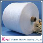 100% virgin close virgin polyester ring spun yarn raw white