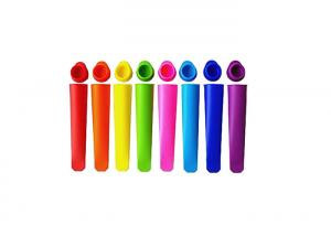 Quality Super Slim Shape Silicone Ice Trays Easy Pop Out Ice Cube TrayRainbow Color for sale