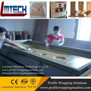 China PVC veneer Vacuum Press Membrane Covering Machine for door kitchen cabinets on sale