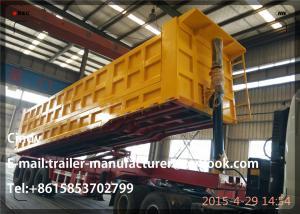 China 3 Axle Coal / Grain Heavy Duty RearDumpSemiTrailer / Tipper Truck Trailer on sale