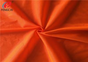 China Reflective Polyester Fluorescent Fabric , Fluorescent Orange Fabric For Uniform on sale