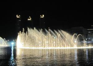 China High Spray Color Changing Led Fountain , Big Water Fountain Project 380V on sale