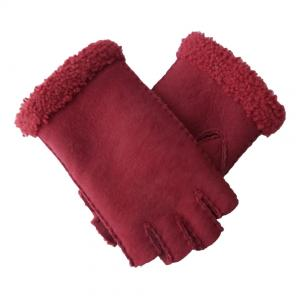 China Double Face Leather Fashion Gloves , Touch Screen Cute Women'S Mitten Gloves on sale