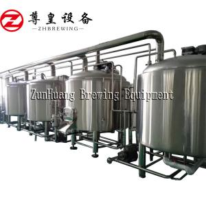 China 5000L, 6000L beer brewery equipment microbrewery beer system micro brewery for lager beer on sale