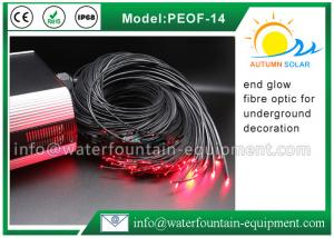 China Decorative Underwater Pool Lights End Glow Fiber Optic Cable With Black Cover on sale