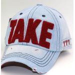short brim stone washed worn-out baseball cap