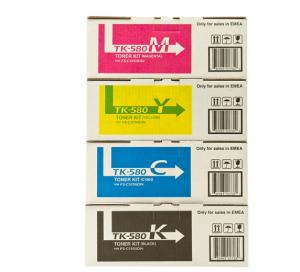 China Kyocera TK580 BK Ecosys Toner Pack 4 Compatible Ecosys P6021 / P6021CDN Printer on sale