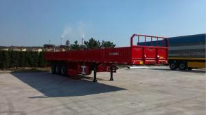 China South America Aluminum Flatbed Semi Trailer Low Bed High Strength Steel on sale