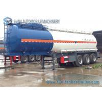 Tri-axle Oil Tank Trailer 35000L Ammonia water Chemical Tank trailer Q345 / Q235
