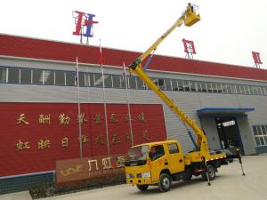China Working lift truck / Articulated Hydraulic work platform truck / Aerial Platform Truck on sale