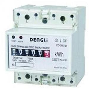 China Single Phase DIN RAIL Energy Meter, static energy meter, smart energy meter,power meter on sale