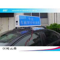 China RGB Video Taxi Top Led Display Advertising Light Box With 4g / Wifi Control on sale