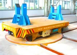 China Durable Automated  Rail Electric Trailer mounted on turntable 360 Degree on sale
