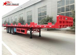 China Heavy Equipment Transport Drop Deck Semi Trailer Manually Operated Or Hydraulic Type on sale