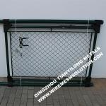 RAL6005 55mm Chain Link Fence Garden Gate for Garden Using