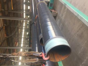 China DN 500 ASTM A106 Coated Steel Pipe CSA Z245.21 3L PE Coating Bevelled End on sale