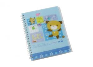China OEM Transparent polypropylene cover A4, A4+, A5, A5+, A6 Spiral Bound Notebook on sale