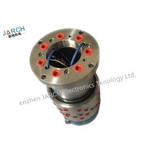 China 12 Wires 2A Pneumatic Rotary Union 4 / 6 / 8 Channels Passage For Swivel Large Current on sale