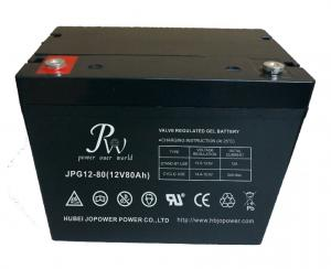 China Lead Acid Gel Solar System Battery 12V 80Ah Sealed Construction Long Life on sale