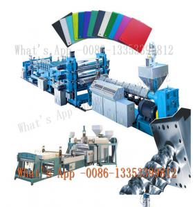 China Luggage ABS PC Plastic Sheet Extruder Machine T - Type Die Head on sale