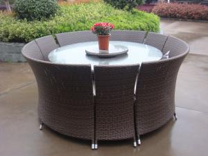 China Outdoor Rattan Garden Dining Sets , All Weather Waterproof Sofa on sale