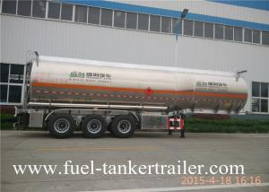 China 45000 Liters Fuel Tanker Trailer , Oil Tanker Truck Aluminum Fuel Tanks on sale
