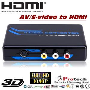 China AV RCA CVBS S-Video to HDMI Video Converter PETCSH on sale
