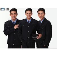 Black Two Pockets Security Officer Jackets For Security Guards