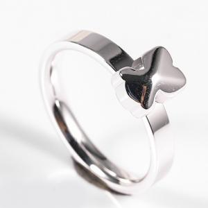 China Minimalist Style Stainless Steel Jewelry Rings 6 / 7 / 8 / 9 Size With Gold Plated on sale