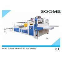 Semi - Automatic Folder Gluer Machine Size 2800mm*340mm For Pasting Carton Box