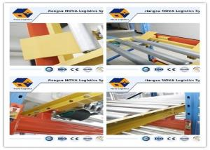 China CE / ISO Durable Steel Gravity Pallet Racking Heavy Duty Adjusted 75mm Pitch on sale
