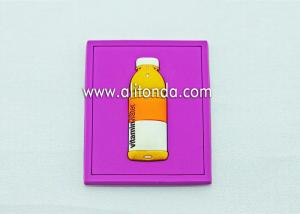 China Wholesale and custom drink bottle image black red pink brown square fridge magnets for beverage company on sale