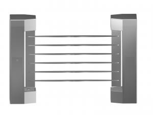 China Indoor 180 Angle Two-way Direction Manual Swing Gate with 304# Stainless Steel Plate on sale