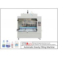 Automatic Gravity Bottle Filling Machine For Toilet Cleaner / Corrosive Liquid 500ml-1L