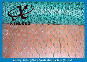 China Silver / Green Galvanised Chicken Wire For Farm Normal Hexagonal Wire Mesh on sale