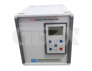 China Low Sensibility Transformer Oil Testing Kit , Insulating Oil Tester Air Content Tester on sale