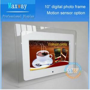 China Acrylic frame 10 inch lcd digital photo frame on sale