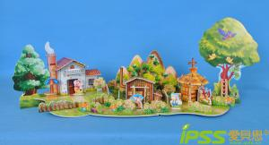 China DIY Fashion Puzzle 3D Model , Child Toy Building The Three Little Pigs on sale