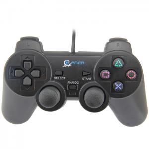 China Wired USB Game Controller Shock Vibration Joystick Game Padeasy Grab Buttons on sale