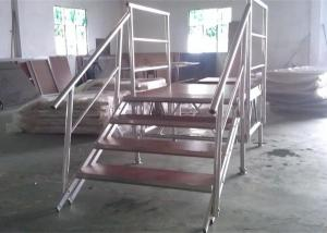 China Stable Plywood Aluminum Stage Platform 18 Mm Thickness With Guardrails on sale