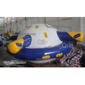 China Double Layer PVC Fabric Inflatable Saturn Rocker / Inflatable Floating Spinner on sale