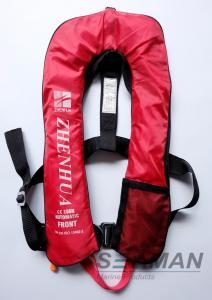 China EN ISO12402-3のセリウム150Nの安全馬具及び命綱が付いている膨脹可能な大人の救命胴衣のベスト on sale