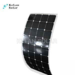 China 100 Watt Semi Flexible Solar Panel , High Output Solar PanelsAnti - Aging EVA on sale