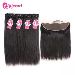 China 10A Mink Brazilian Hair Weave Straight Weave Styles 4 Bundles Hair Weave With Lace Closure on sale
