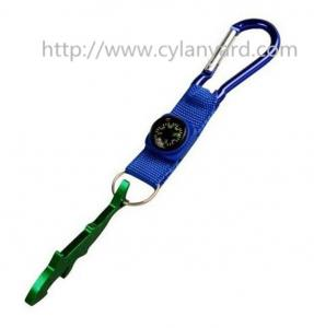 China Multi function camping wrist lanyard with compass, carabiner and bottle opener, on sale