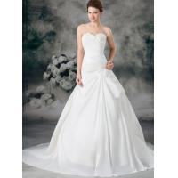 Bridal Taffeta Ruffle A Line Strapless Sweetheart Empire Line Wedding Dresses