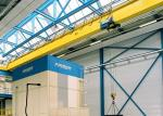 Single Girder Travelling Overhead Crane With Monorail Electric Hoist FEM / DIN Standard
