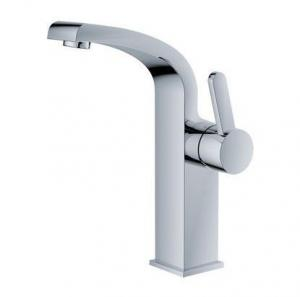 China Contemporary Single Handle Basin Mixer Faucet , Deck Mounted Bathroom Sink Mixer on sale