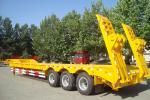 TITAN VEHICLE 3 axles low bed semi trailer truck for heavy duty